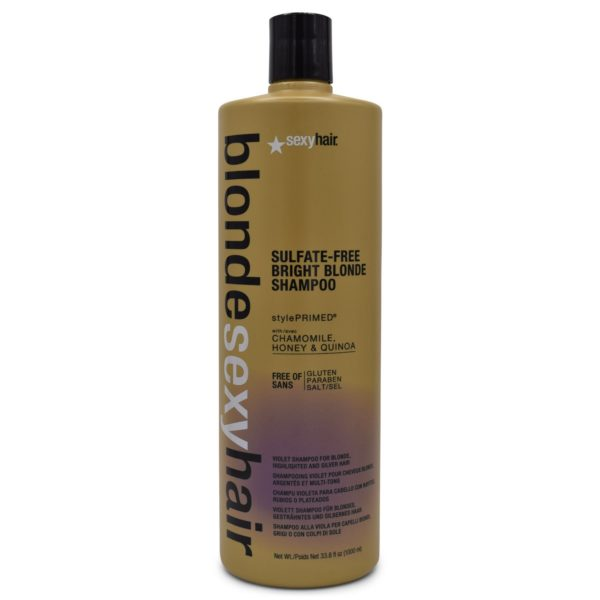 Sexy Hair Violet Blonde Bombshell Sulfate Free Bright Blonde Shampoo 33.8Oz