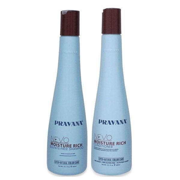 PRAVANA NEVO Moisture Rich Shampoo and Conditioner 10 Oz Combo Pack