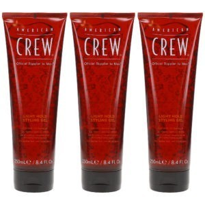 American Crew Light Hold Styling Gel 8.4 Oz- 3 Pack