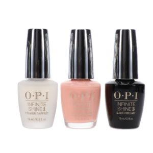 OPI Infinite Shine Bubble Bath 0.5 oz & Base Coat Prime + Gloss Top Coat Infinite Shine Duo Set Combo Pack