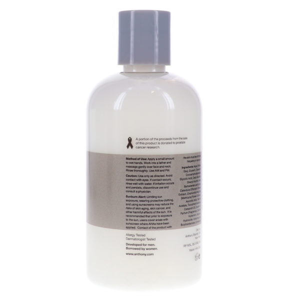 Anthony Glycolic Facial Cleanser, 8 oz.