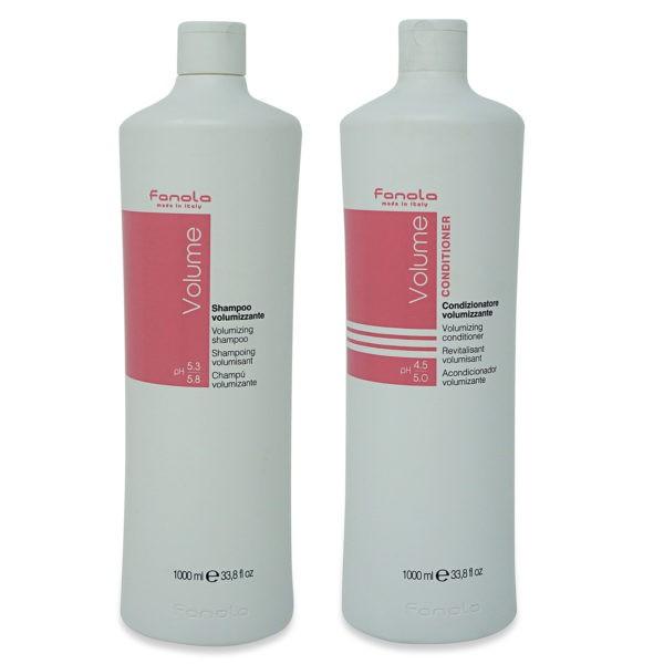 Fanola Volumizing Shampoo 33.79 oz & Volumizing Conditioner 33.8 oz Combo Pack