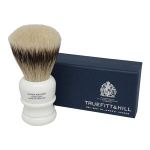 Truefitt & Hill Wellington Super Badger Shave Brush Porcelain