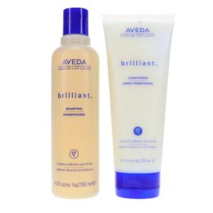 Aveda Brilliant Shampoo 8.5 oz & Brilliant Conditioner 6.7 oz Combo Pack