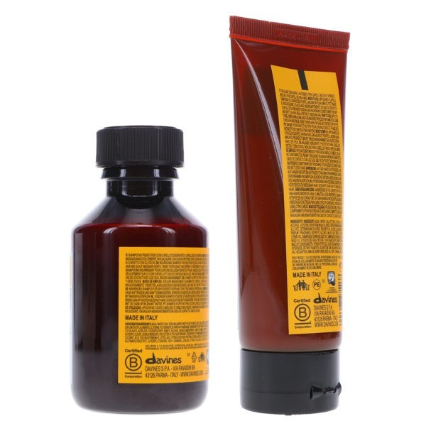 Davines NaturalTech Nourishing Shampoo 3.38 oz & NaturalTech Vegetarian Miracle Conditioner 2.03 oz Combo Pack