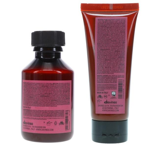 Davines NaturalTech Replumping Shampoo 3.38 oz & NaturalTech Replumping Conditioner 2.02  oz Combo Pack