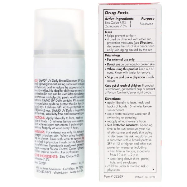 Elta MD UV Daily SPF 40 Tinted Broad Spectrum 1.7 oz 2 Pack
