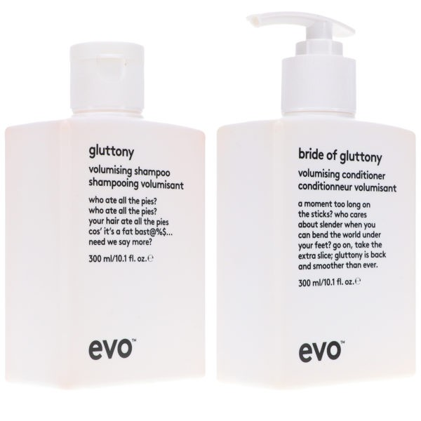 EVO Gluttony Volume Shampoo 10.14 oz & Bride Of Gluttony Conditioner 10.14 oz Combo Pack