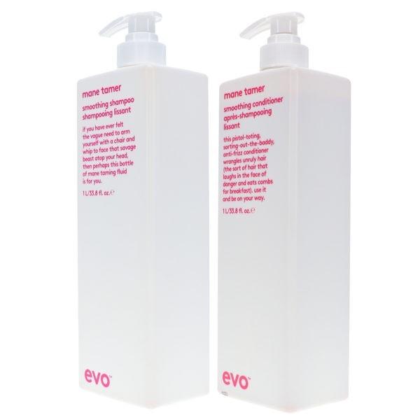 EVO Mane Tamer Smoothing Shampoo 33.8 oz & Mane Tamer Smoothing Conditioner 33.8 oz Combo Pack