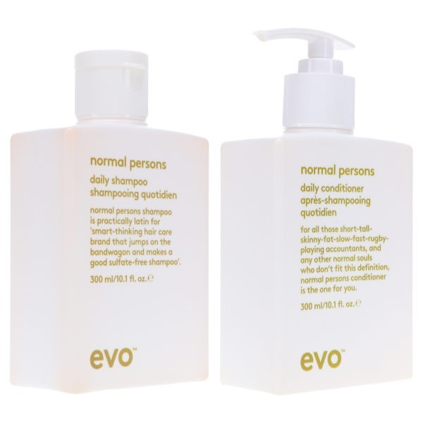 EVO Normal Persons Daily Shampoo 10.1 oz & Normal Persons Daily Conditioner 10.14 oz Combo Pack