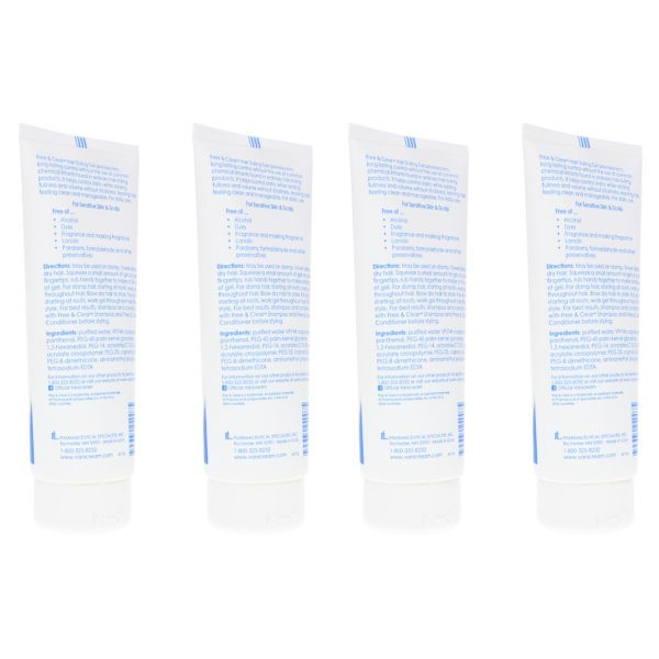 Free & Clear Hair Styling Gel 7 oz 4 Pack