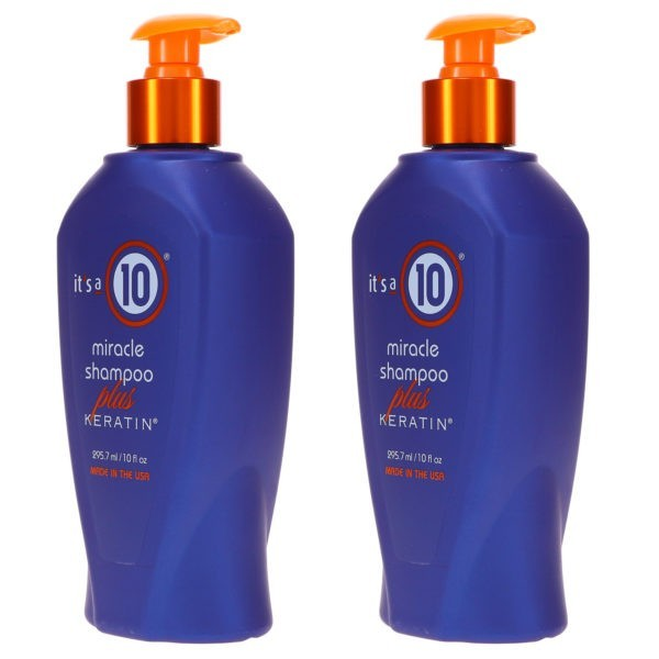 It's a 10 Miracle Shampoo Plus Keratin Sulfate Free 10 oz 2 Pack
