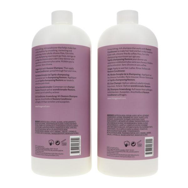 Living Proof Restore Shampoo 32 oz & Restore Conditioner 32 oz Combo Pack