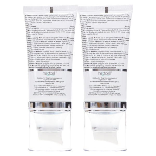 Obagi Medical SUZANOBAGIMD Soothing Complex Calming Lotion SPF25 1.6 oz 2 Pack