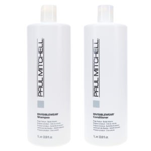 Paul Mitchell Invisiblewear Shampoo 33.8 oz & Invisiblewear Conditioner 33.8 oz Combo Pack