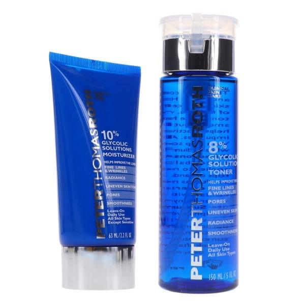 Peter Thomas Roth Glycolic Acid Moisturizer 2.2 oz & 8% Glycolic Solutions Toner 5 oz Combo Pack