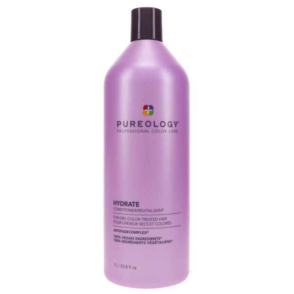 Pureology Hydrate Shampoo 333.8 oz & Hydrate Conditioner 33.8 oz Combo Pack
