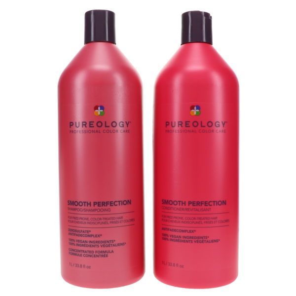 Pureology Smooth Perfection Shampoo 33.8 oz & Smooth Perfection Condition 33.8 oz Combo Pack