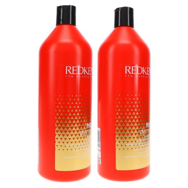 Redken Frizz Dismiss Sulfate-Free Shampoo 33.8 oz & Frizz Dismiss Conditioner 33.8 oz Combo Pack