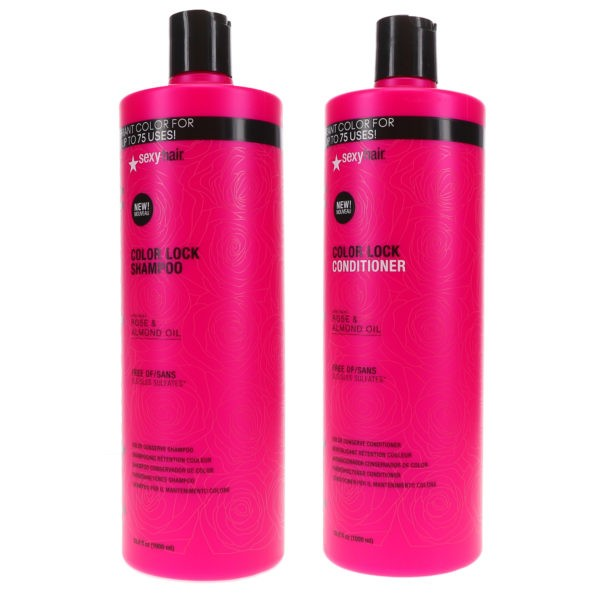 Sexy Hair Vibrant Sexy Hair Color Lock Shampoo 33.8 oz & Color Lock Conditioner 33.8 oz Combo Pack