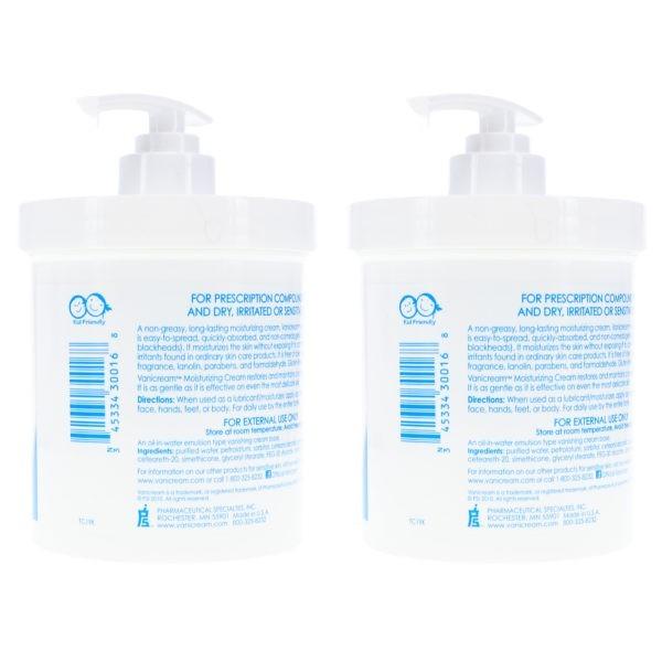 Vanicream Moisturizing Skin Cream with Pump Dispenser 16 oz 2 Pack