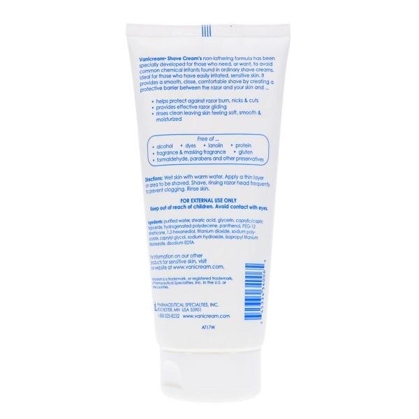 Vanicream Shave Cream For Sensitive Skin 6 oz 3 Pack