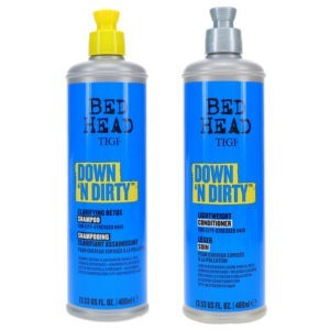 TIGI Bed Head Down N Dirty Shampoo 13.53 oz & Bed Head Down N Dirty Conditioner 13.53 oz Combo Pack